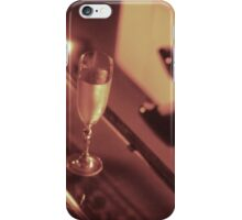 Sexy young lady in stiletto high heel shoes and glass of champagne iPhone Case/Skin