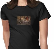 Sidewalk Cafe Womens Fitted T-Shirt