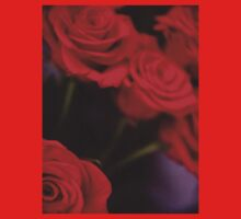 Analog photo of bunch bouquet of red roses T-Shirt