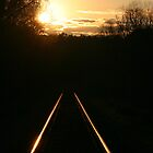 Sunrise on the Tracks by RebeccaBlackman