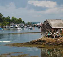 Fishing Shack on Mackerel Cove, Maine by MarkEmmerson
