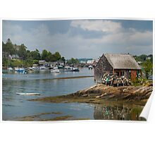 Fishing Shack on Mackerel Cove, Maine Poster