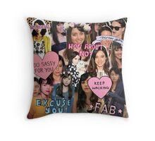 Aubrey Plaza Collage Throw Pillow