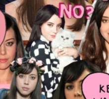 Aubrey Plaza Collage Sticker