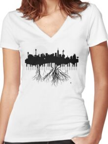 New York Musical Roots Women's Fitted V-Neck T-Shirt