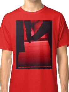 Couple walking romantically hand in hand in silhouette analog photo Classic T-Shirt