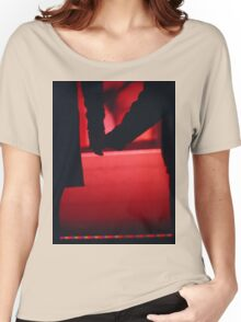 Couple walking romantically hand in hand in silhouette analog photo Women's Relaxed Fit T-Shirt