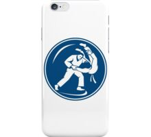 Judo Combatants Throw Circle Icon iPhone Case/Skin
