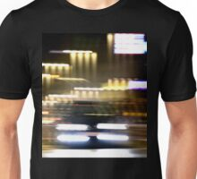 Car in street in urban city lights with distortion effect Unisex T-Shirt