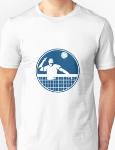 Volleyball Player Spiking Ball Circle Icon T-Shirt