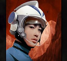 Mars One Retro Sci-Fi Astronaut by CalicoArt