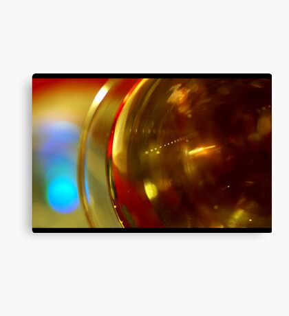 Abstract with glass and Bubbles Canvas Print