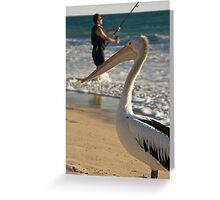Man v Nature Greeting Card