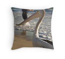 Man v Nature Throw Pillow
