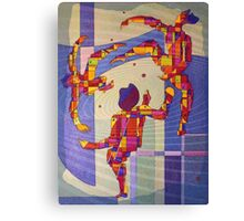 Juggling balls foot Canvas Print