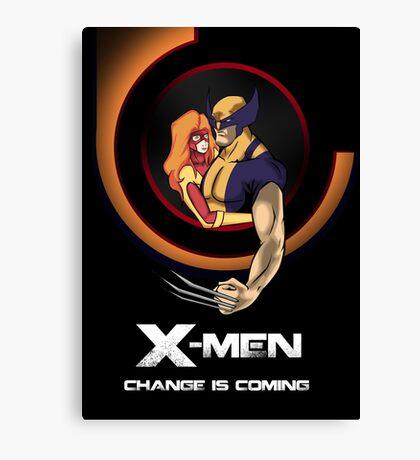 Bob Peak Inspired Xmen Poster Canvas Print