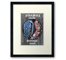 Captain America: Civil War Poster Framed Print
