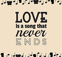 Love is a Song that Never Ends by elainalynn