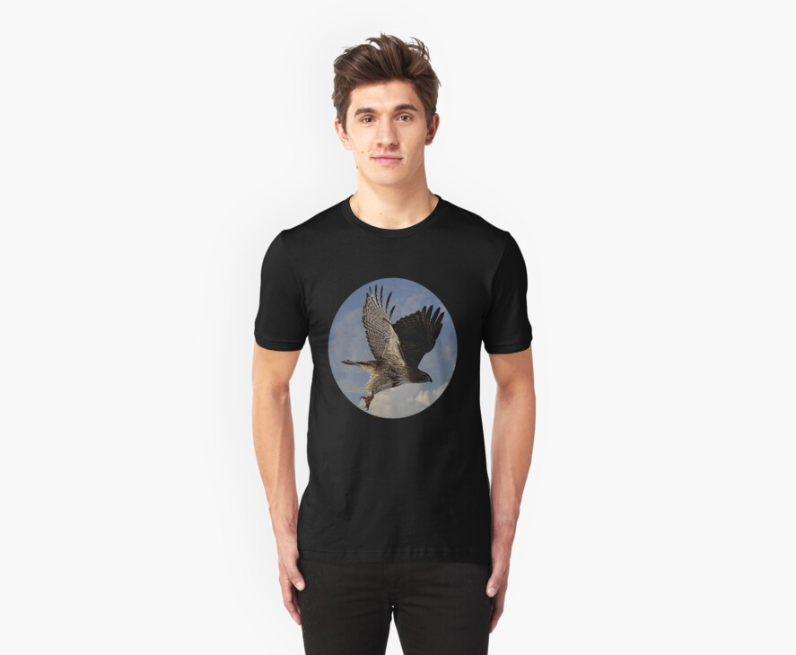 Red-Tail Hawk Tee 2 by KatsEye