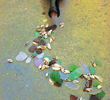 Sea glass spill by Evoken68