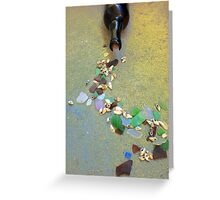 Sea glass spill Greeting Card