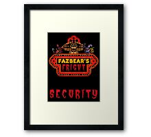 Five Nights at Freddy's Fazbear's Fright Security Framed Print