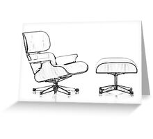 Eames Lounge Chair Greeting Card