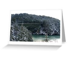 Snow Bridge Three Greeting Card