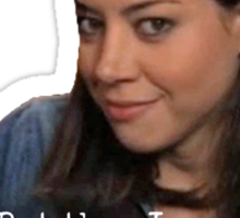 PARKS AND REC APRIL LUDGATE ON ALCOHOL Sticker