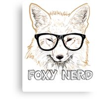 Foxy Nerd Canvas Print