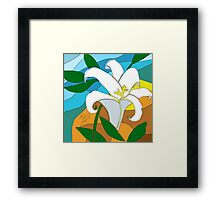 Stained glass Lily done in sketch club Framed Print
