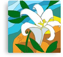 Stained glass Lily done in sketch club Canvas Print