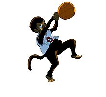 Basketball Monkey Photographic Print