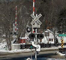 Railroad X-ing  by Rebecca Bryson