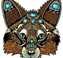 Fox Design - Detailed Zentangle by janelledimmett