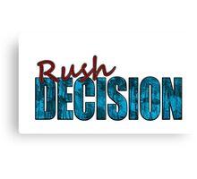 Rush Decision Blue Rust Canvas Print