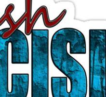 Rush Decision Blue Rust Sticker