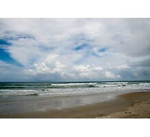 Clouds on the Beach Photographic Print