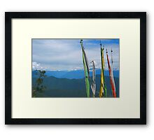 Prayer Flags in the Himalayas Framed Print