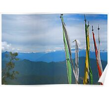 Prayer Flags in the Himalayas Poster