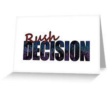 Rush Decision Acid Burn Purple Greeting Card