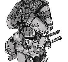 Scared Samurai by Taliesin  Fox-Henry