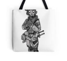 Scared Samurai Tote Bag