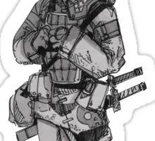 Scared Samurai Sticker