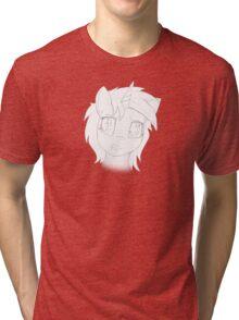 Vinyl Scratch sketch - Design 1 - Tri-blend T-Shirt