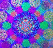 Bright Colorful Mandala  by timila