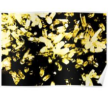Trendy Yellow Crystal  Poster