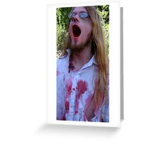 SCREAMING ZOMBIE Greeting Card