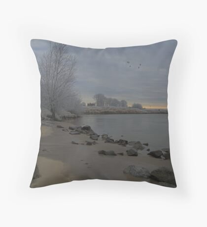 river site Throw Pillow