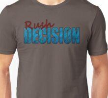 Rush Decision Blue Paper Unisex T-Shirt